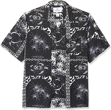 Marca Amazon - 28 Palms - Camisa vintage de rayón 100 % lavado y con corte holgado para hombre, diseño tropical hawaiano: Amazon.es: Ropa y accesorios