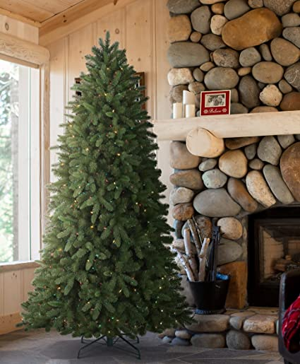 tree classics classic fraser fir artificial christmas tree 75 feet prelit color changing led