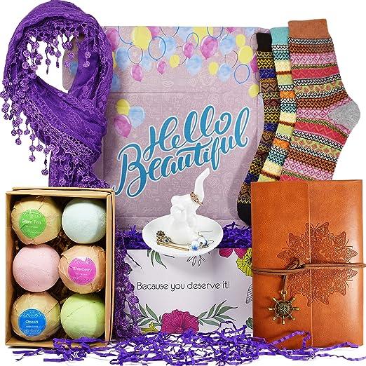 Amazon.com: Cestas de regalo de cumpleaños para mujeres ...