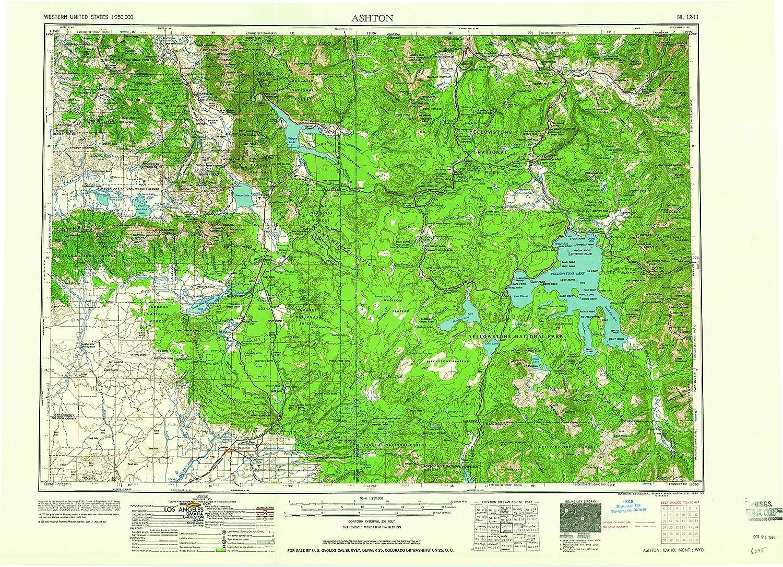 Amazon.com : YellowMaps Ashton ID topo map, 1:250000 Scale, 1 X 2 ...