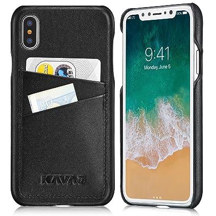 Amazon kavaj iphone x case leather tokyo black supports kavaj iphone x case leather quottokyoquot black supports wireless charging qi colourmoves
