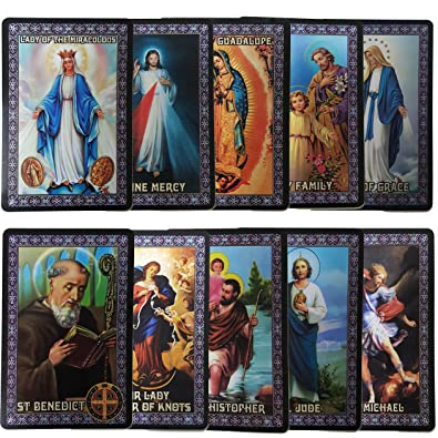 photo about Free Printable Catholic Prayer Cards referred to as Catholic Fixed of 10 Holy Prayer Playing cards - Clean Plastic Substance! St Benedict St Jude St Michael St Christopher Holy Loved ones L of Guadalupe L of Miraculous
