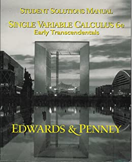Calculus with analytic geometry ch jr edwards david e penney single variable calculus early transcendentals student solutions manual fandeluxe Gallery