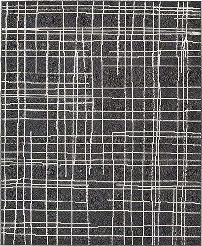 Ashley Furniture Signature Design – Jai Medium Rug – Contemporary – Black White