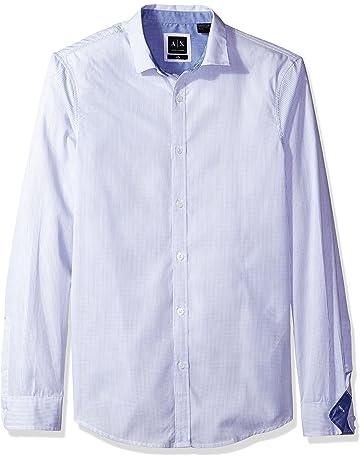 22049687 A X Armani Exchange Men's Poplin Long Sleeve Button Up Woven