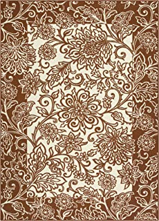 product image for Maples Rugs Adeline Kitchen Rugs Non Skid Accent Area Carpet [Made in USA], 2'6 x 3'10, Auburn