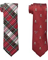 Wembley Men's Santa Men's Boxed Gift Set with Two Ties, Red, One Size