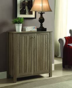 Coaster 4-Shelf Shoe Cabinet Dark Taupe Rectangular