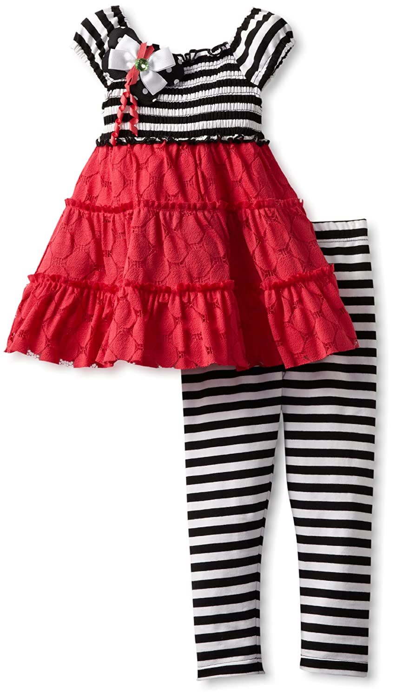 Rare Editions Little Girls Legging Set