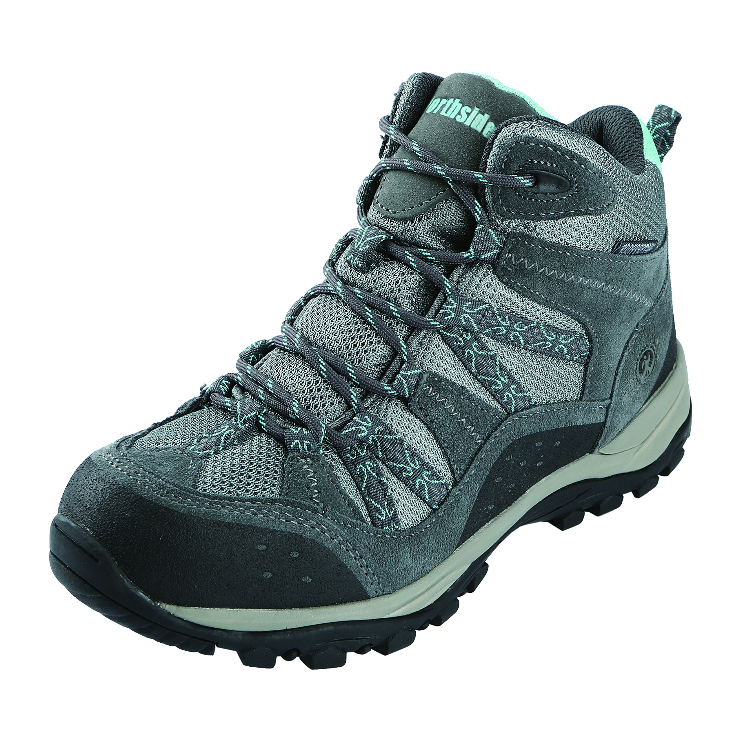 Northside Women's Freemont Waterproof Hiker, Gray/Aqua, 8 m