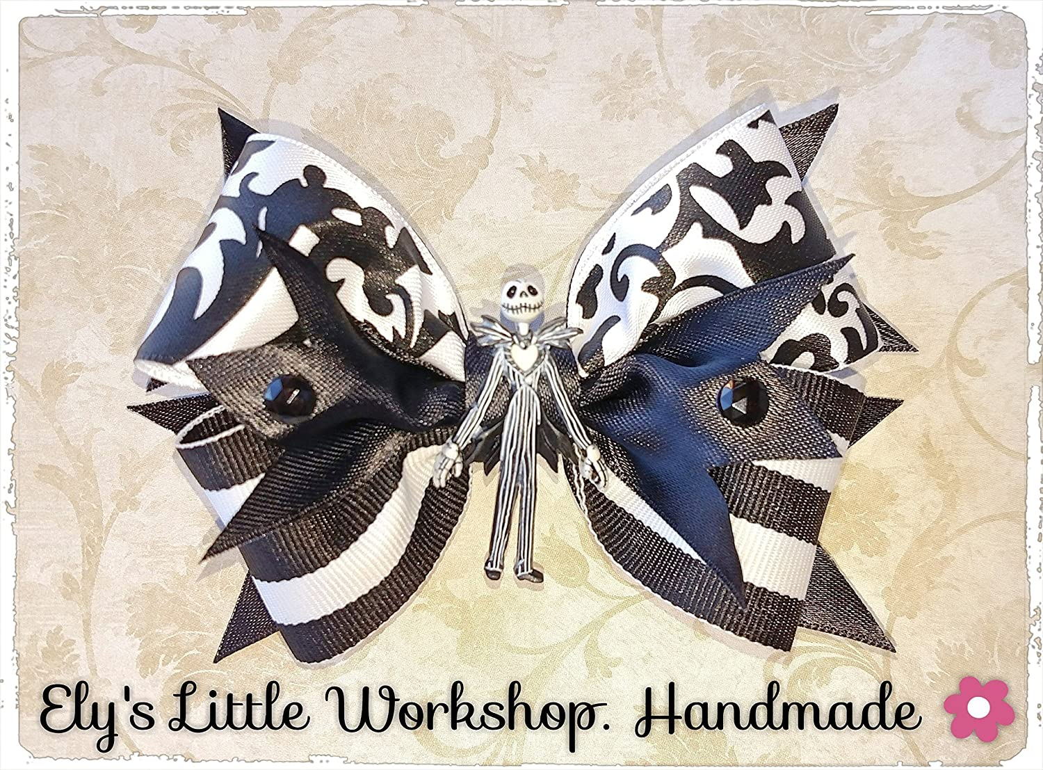 The Night Before Christmas, inspired in Disney Jack Skellington character Hair bow, Body Jack Embellishment, 5