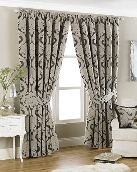 Riva Paoletti QuotRenaissance Pencil Pleat Curtains Mocha