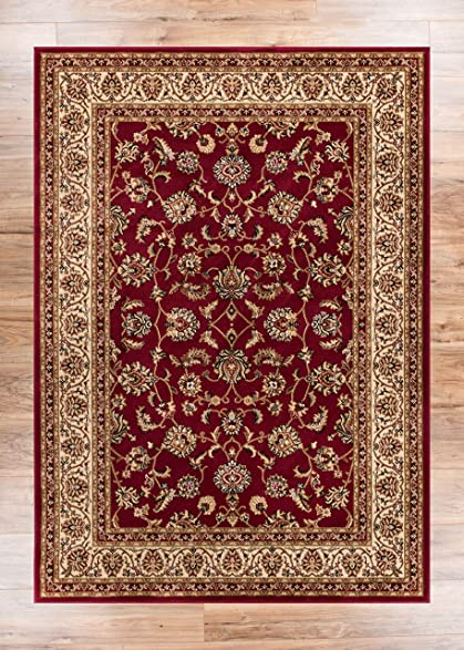 Noble Sarouk Red Persian Floral Oriental Formal Traditional Area Rug 2x4 23quot