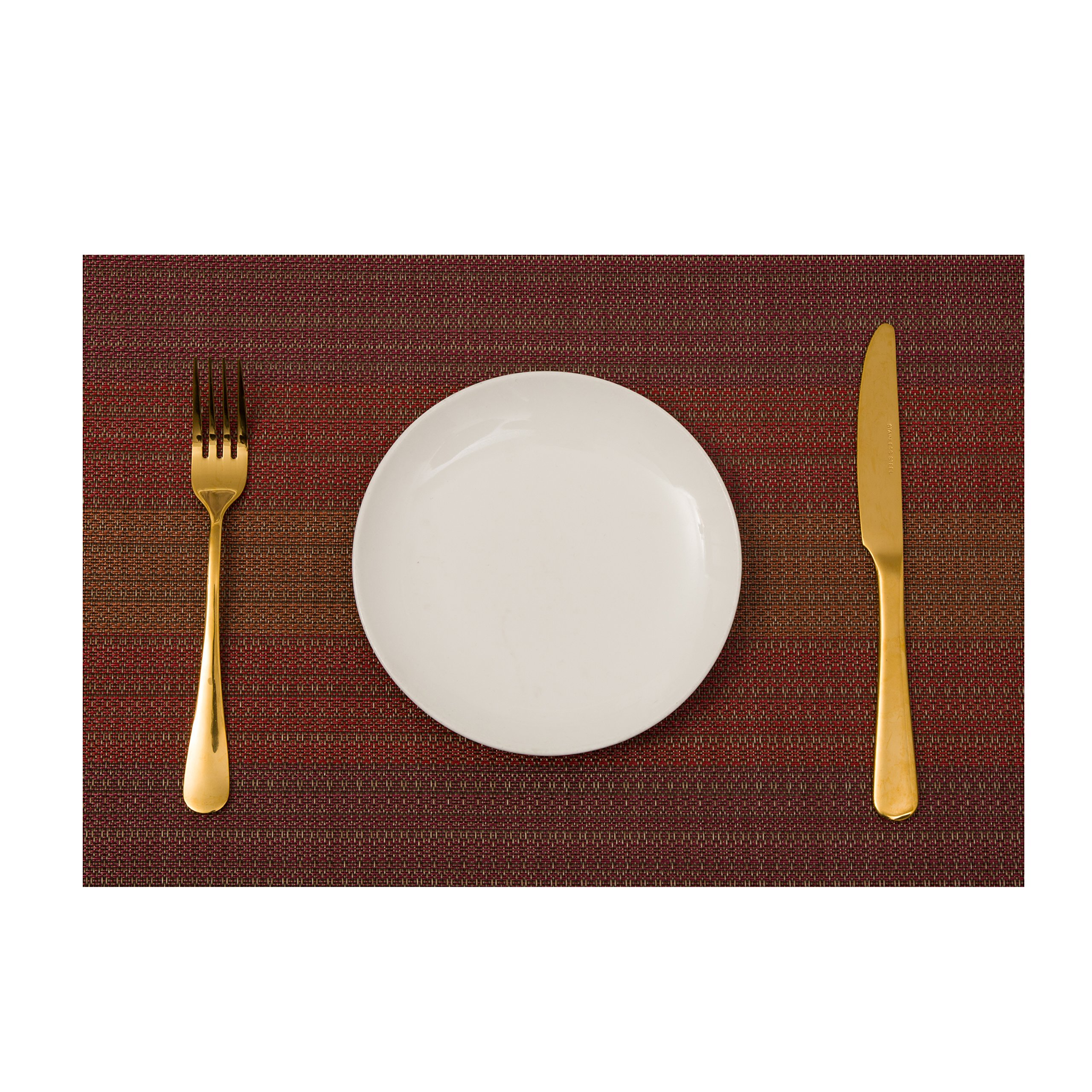 Plain Jane Placemats, Table Mats Non-Slip Washable Place Mats, Heat Resistant Kitchen Tablemats for Dining Table, Placemat Set of 4, Red. by Plain Jane (Image #3)