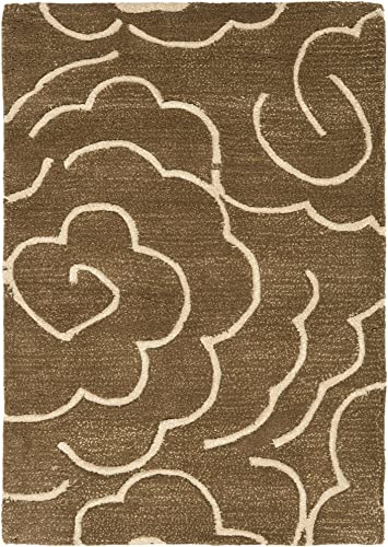 Safavieh Soho Collection SOH812C Handmade Brown and Ivory Premium Wool Area Rug 2 x 3