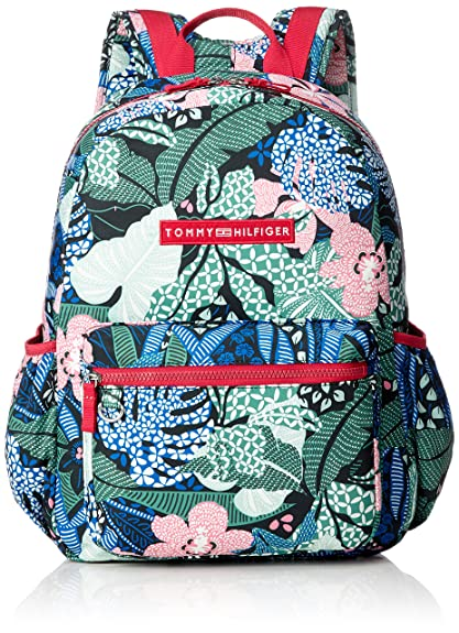 Tommy Hilfiger - Basic Nylon Backpack Print, Mochilas Unisex Niños, Grün (Floral Print