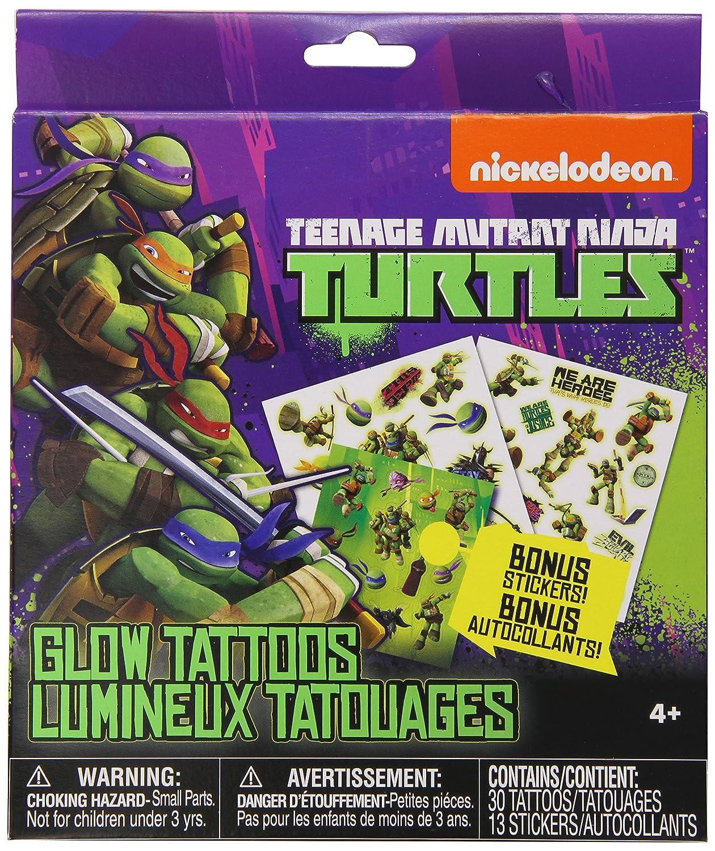 Nickelodeon Teenage Mutant Ninja Turtles Glow Tattoos with Bonus Stickers