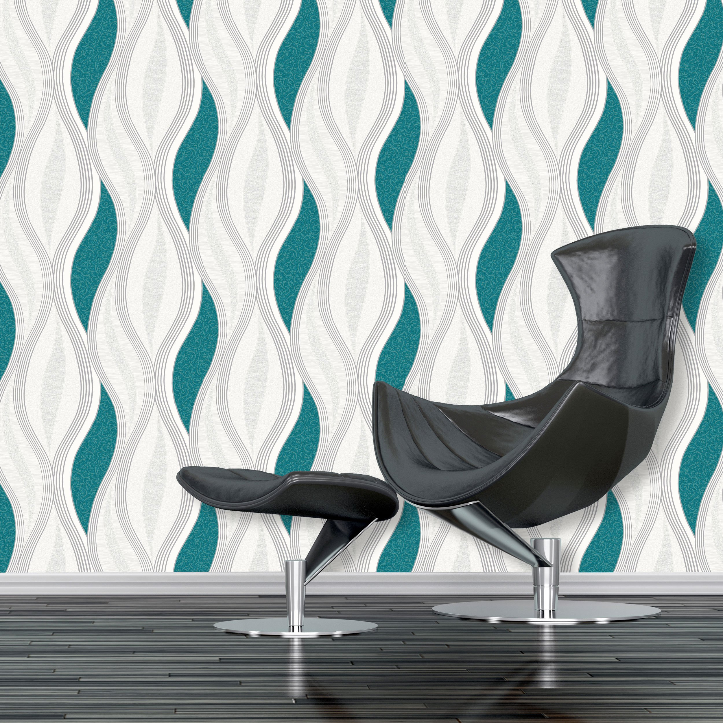 teal wallpaper for living room amazon co uk