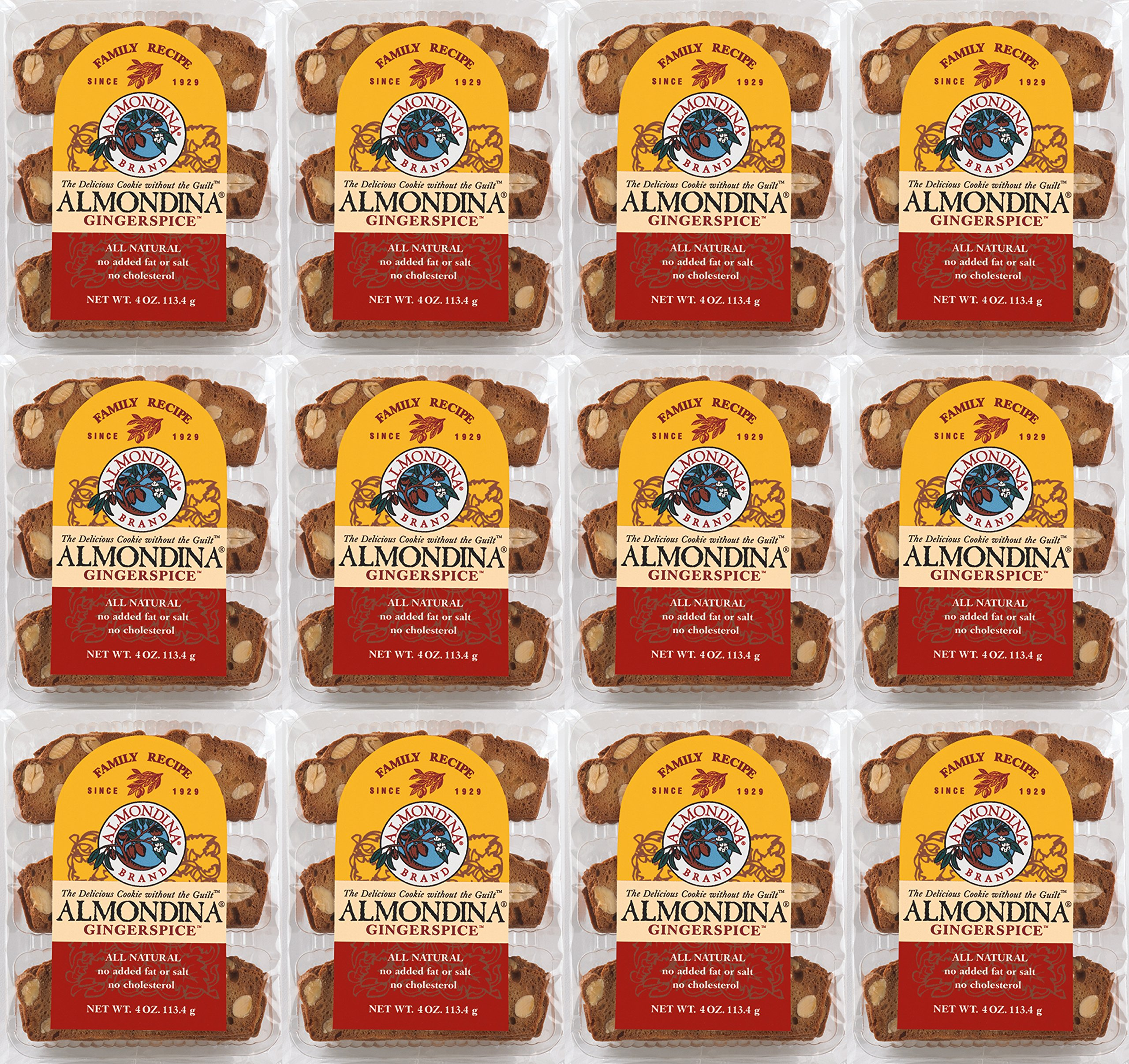 Almondina Gingerspice Biscuit, 4 ounce, 12 Pack