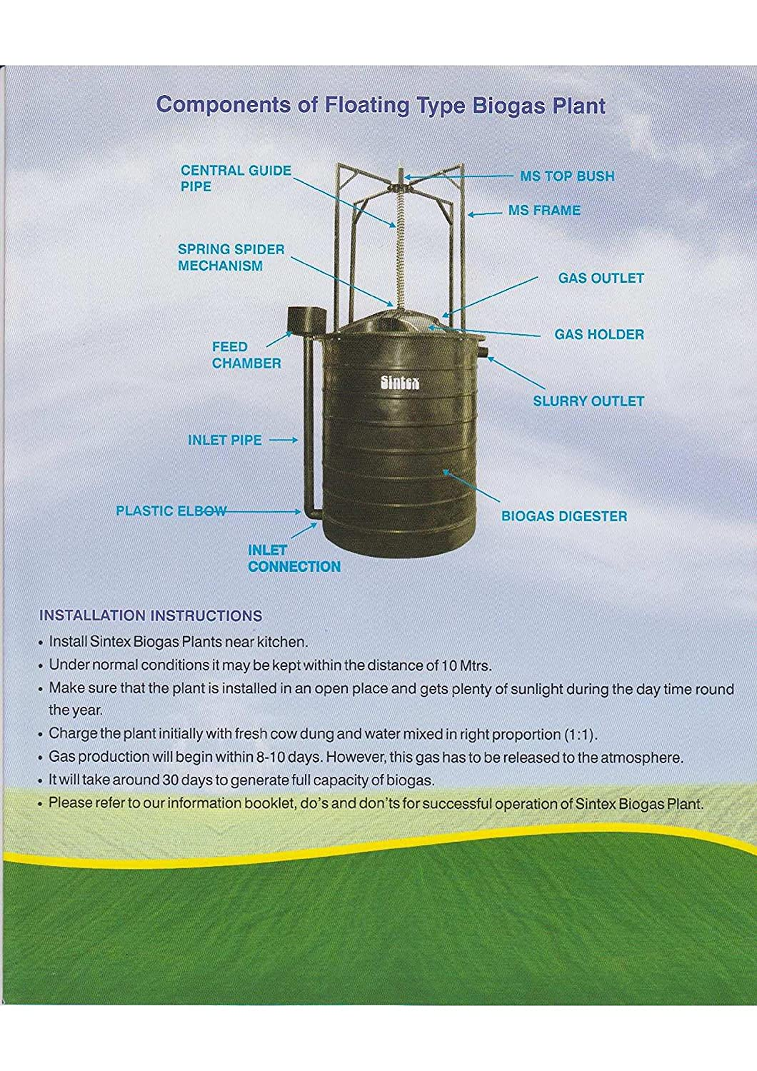 Mini Biogas Digester Project Photo Gallery Plant T Diagram In Hindi Anaerobic This Is A Cross Section Of Single Chamber Showing The Four Diy Kit Assemble