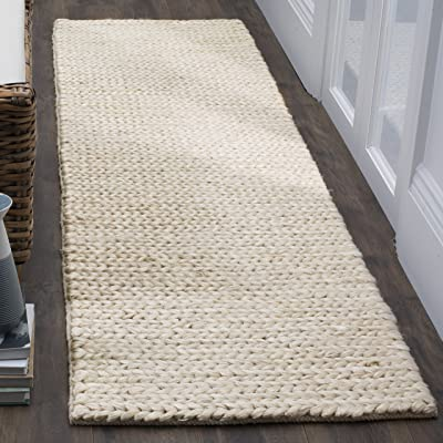 """Safavieh Natural Fiber Collection NF520A Ivory Runner, 2'3"""" x 8'"""