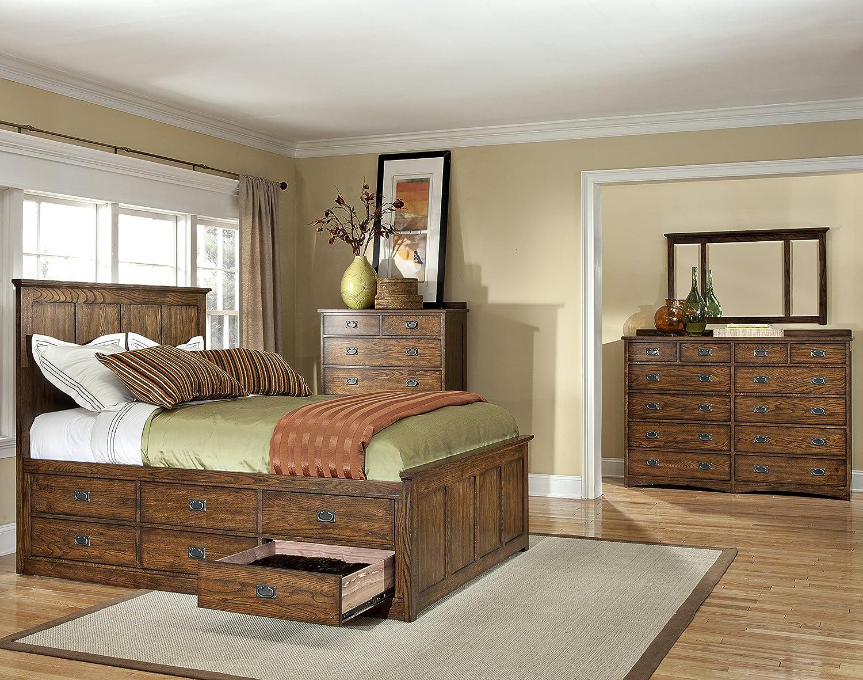 Amazon.com: Intercon Oak Park Mission Cal King 6 Drawer ...