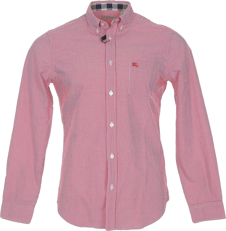 Burberry Brit para hombre Fred, Sport Camisa de cuadros Talla M en militar rojo: Amazon.es: Ropa y accesorios