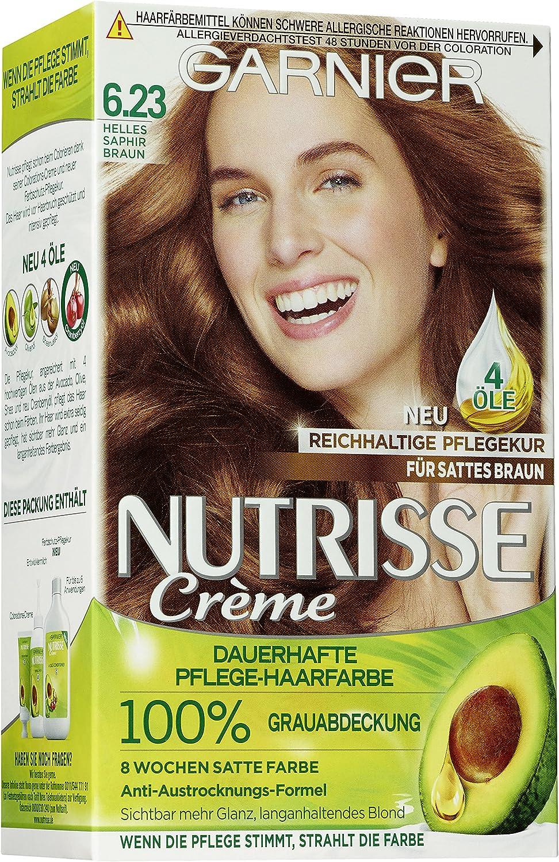Garnier Nutrisse crema ligera coloración Sapphire Brown 6.23 ...
