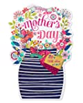 Carlton Cards 6027536 Floral Bouquet Mother's Day Card with Foil