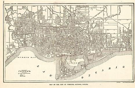 Amazon.com: 1923 Antique Toronto Map Original Vintage Map of Toronto ...
