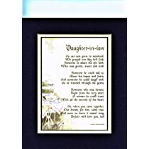 A Mothers Day Gift Poem Present For Daughter In Law 30th 40th 50th Birthday