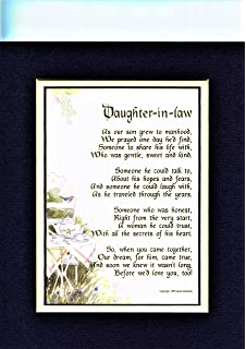 227 Gift Poem Present For A Daughter In Law 30th 40th 50th Birthday More