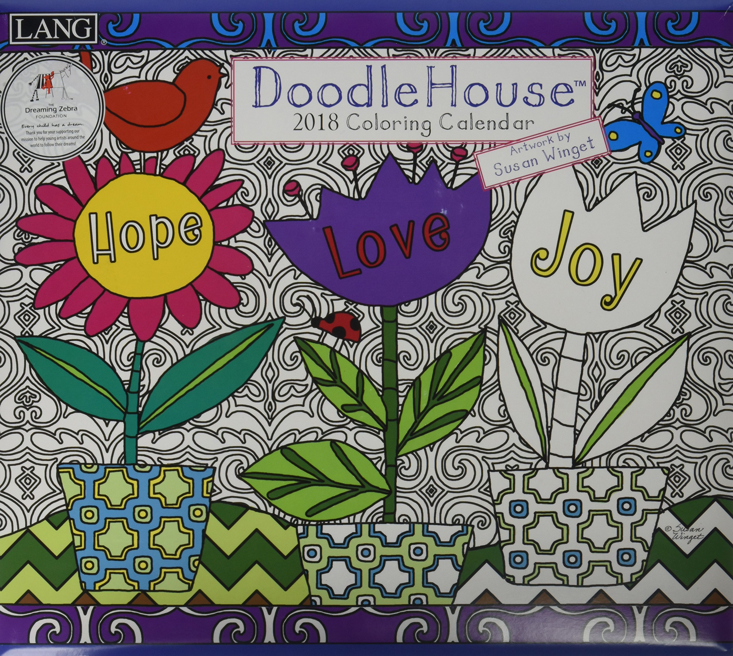 Doodle House 2018 Coloring Calendar PDF ePub ebook