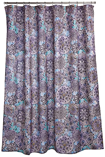 purple and brown shower curtain. Ex Cell Ode to Geode Fabric Shower Curtain  70 by 72 Inch Amazon com