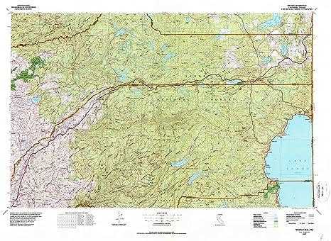 Amazon Com Yellowmaps Truckee Ca Topo Map 1 100000 Scale 30 X 60