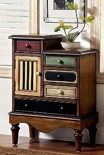 antique distressed furniture. Furniture Of America Circo Vintage Style Storage Chest, Antique Walnut Distressed E