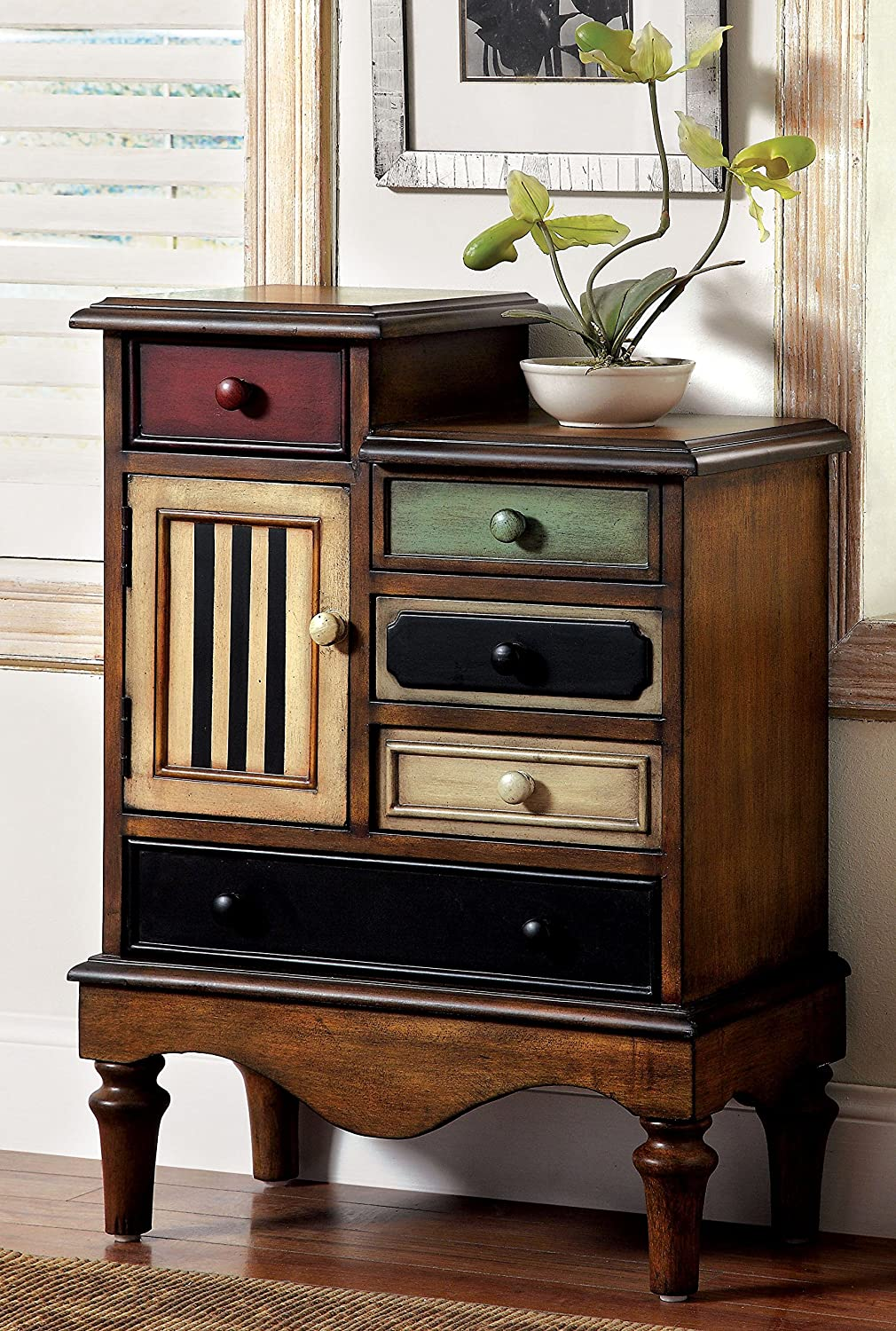 Amazon.com: Furniture Of America Circo Vintage Style Storage Chest, Antique  Walnut: Kitchen U0026 Dining