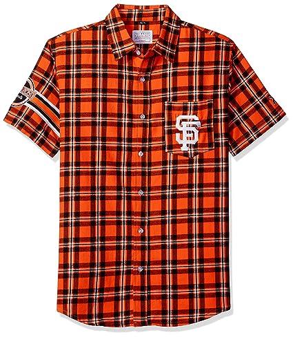 69f9532e Amazon.com : San Francisco Giants Wordmark Basic Flannel Shirt ...