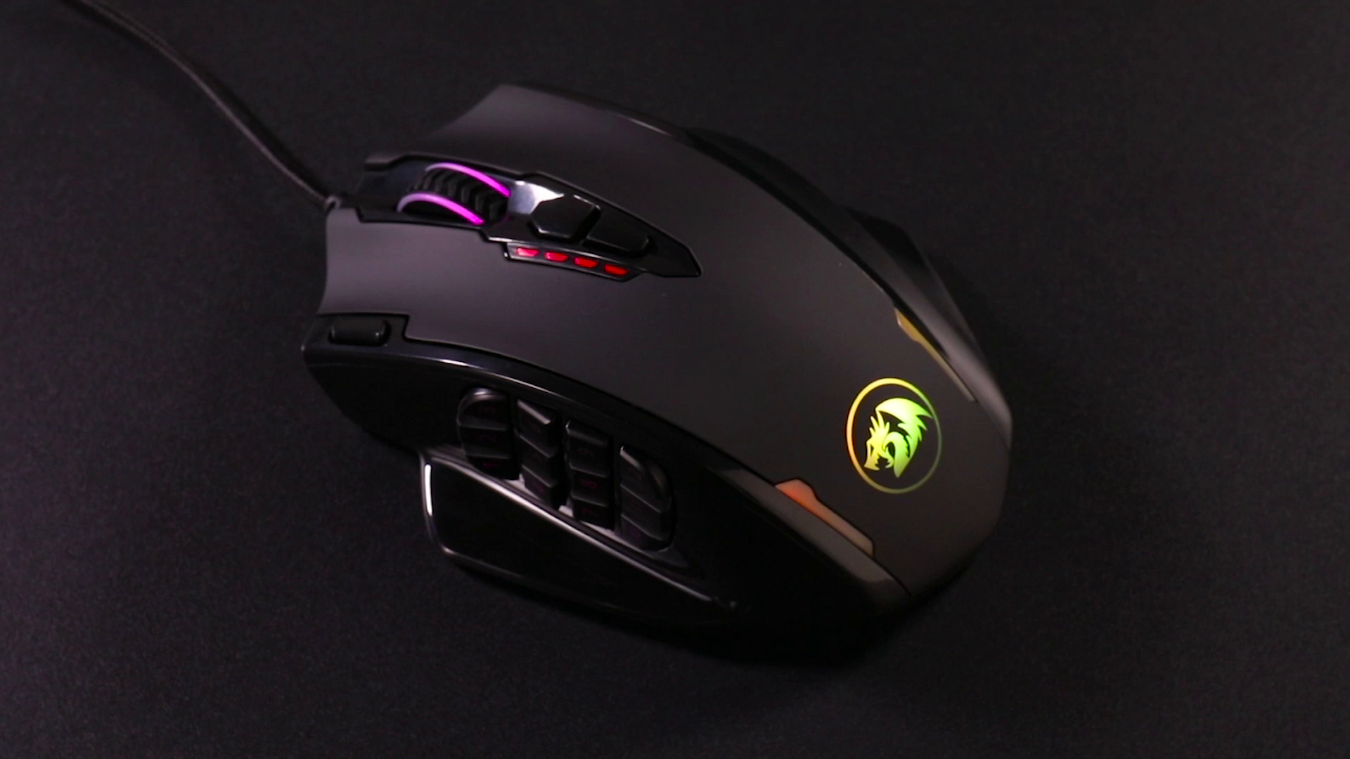 Redragon M908 Impact RGB LED MMO Mouse with Side Buttons Optical Wired Gaming Mouse with 12,400DPI, High Precision, 19…
