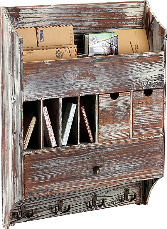 Amazon.com: MyGift Country - Perchero de madera rústico para ...