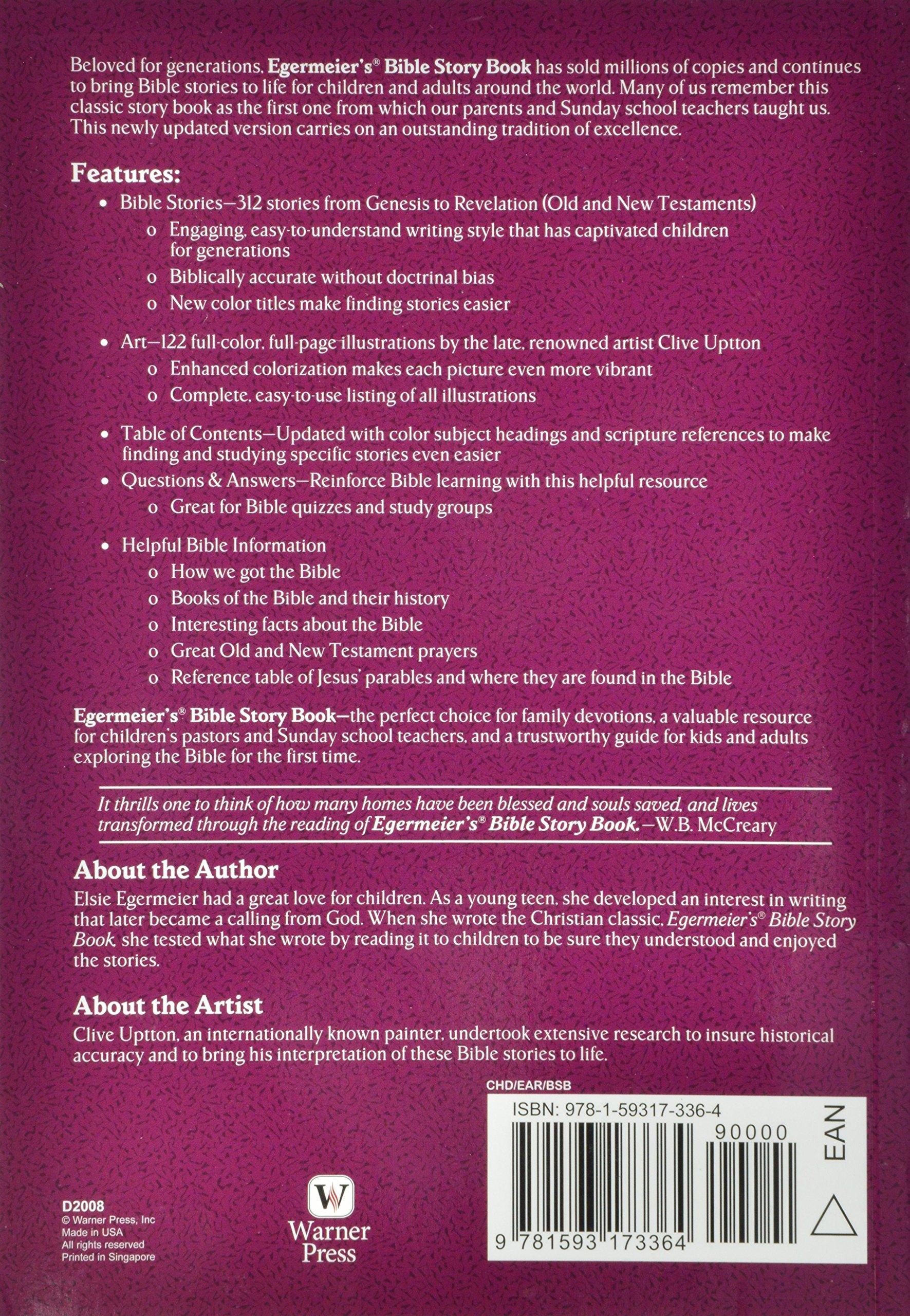 Egermeier\'s Bible Story Book: Elsie Egermeier, Arlene Hall, Clive ...