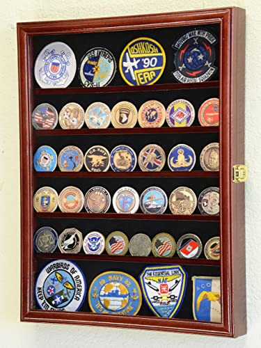 56 Challenge Coin Display Case Cabinet