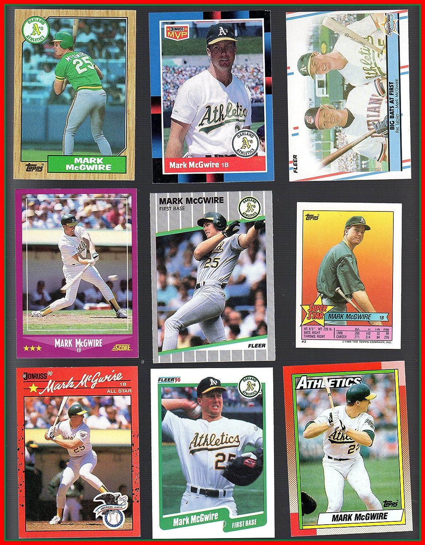 Amazoncom Mark Mcgwire 41 Baseball Card Collection Lot No