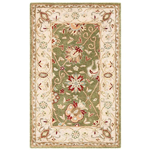 Safavieh Antiquities Collection AT21D Handmade Traditional Oriental Sage Wool Area Rug 3 x 5