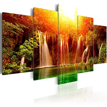 murando - Acrylglasbild Abstrakt 200x100 cm - 5 Teilig - Glasbilder ...
