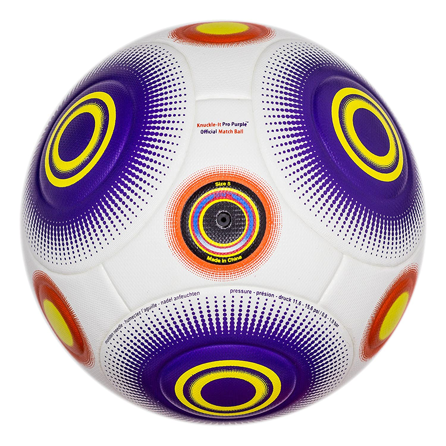 bend-itサッカー、knuckle-it Pro、サッカーボール、Official Match Ball with VPM and VRCテクノロジー B075DJNC1J 5|White/Purple (Knuckle-It Pro Purple) White/Purple (Knuckle-It Pro Purple) 5