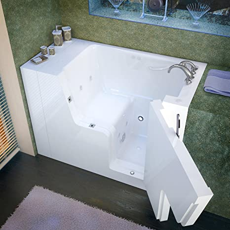 Spa World Venzi Vz2953wcarwh Rectangular Whirlpool Walk In Ada Bathtub,  29x53, Right Drain