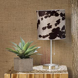 product image for Glenna Jean Faux Cow Mod Lamp, Brown