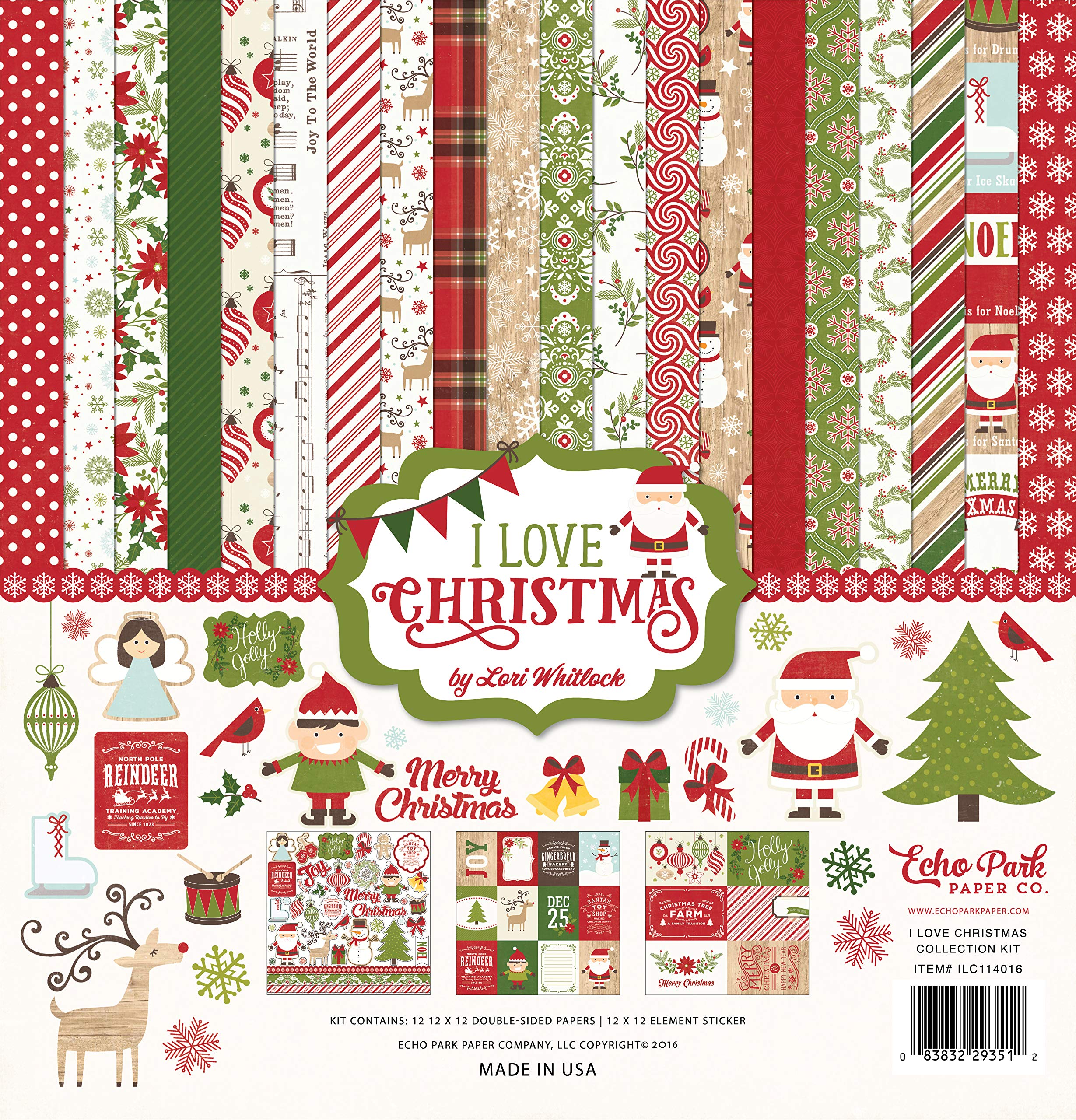 Echo Park Paper Company I I Love Christmas Collection Kit by Echo Park Paper Company