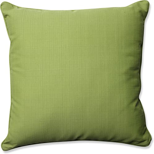 Pillow Perfect Outdoor Indoor Forsyth Floor Pillow, 25 , Solid, Kiwi Green
